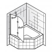 Eckbadewanne mit duschwand  Badewannenaufsatz / Badewannenfaltwand / Duschwand für Badewanne 2 ...
