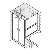 haus bauen duschkabine drehtur verkurzte seitenwand. Black Bedroom Furniture Sets. Home Design Ideas