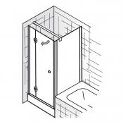 haus bauen dusche pendeltur mit seitenwand. Black Bedroom Furniture Sets. Home Design Ideas