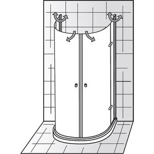 platzsparende duschkabine hsk exklusiv halbkreis. Black Bedroom Furniture Sets. Home Design Ideas