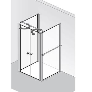 hsk exklusiv u form duschkabine mit pendelt ren 410500 440500. Black Bedroom Furniture Sets. Home Design Ideas