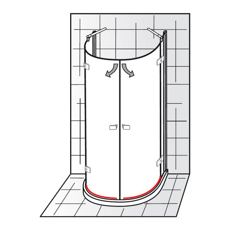 wasserabweisprofil links rechts inkl einschubdichtung e79059 6880x. Black Bedroom Furniture Sets. Home Design Ideas
