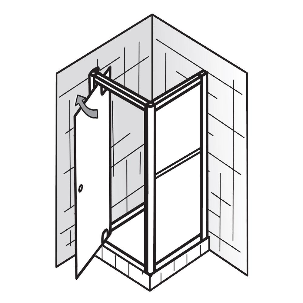 hsk duschkabine favorit drehpunktt r mit seitenwand. Black Bedroom Furniture Sets. Home Design Ideas