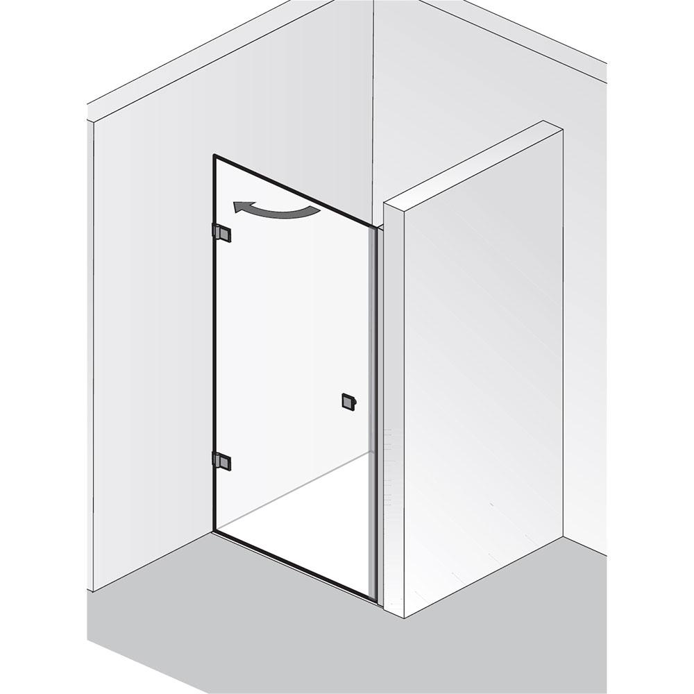 hsk duscht r nischent r atelier pur dreht r nische. Black Bedroom Furniture Sets. Home Design Ideas
