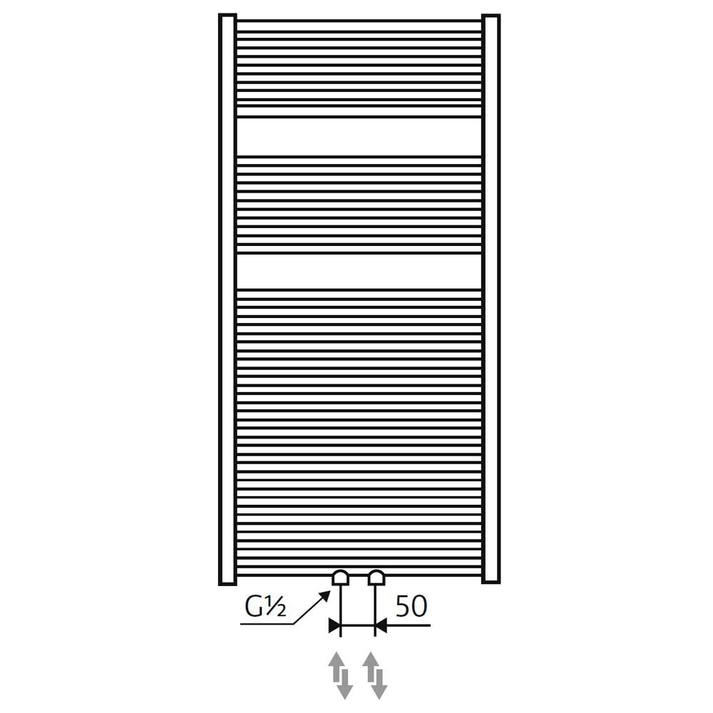 hsk badheizk rper line mit handtuch halter 805078 design handtuch badheizkoerper. Black Bedroom Furniture Sets. Home Design Ideas