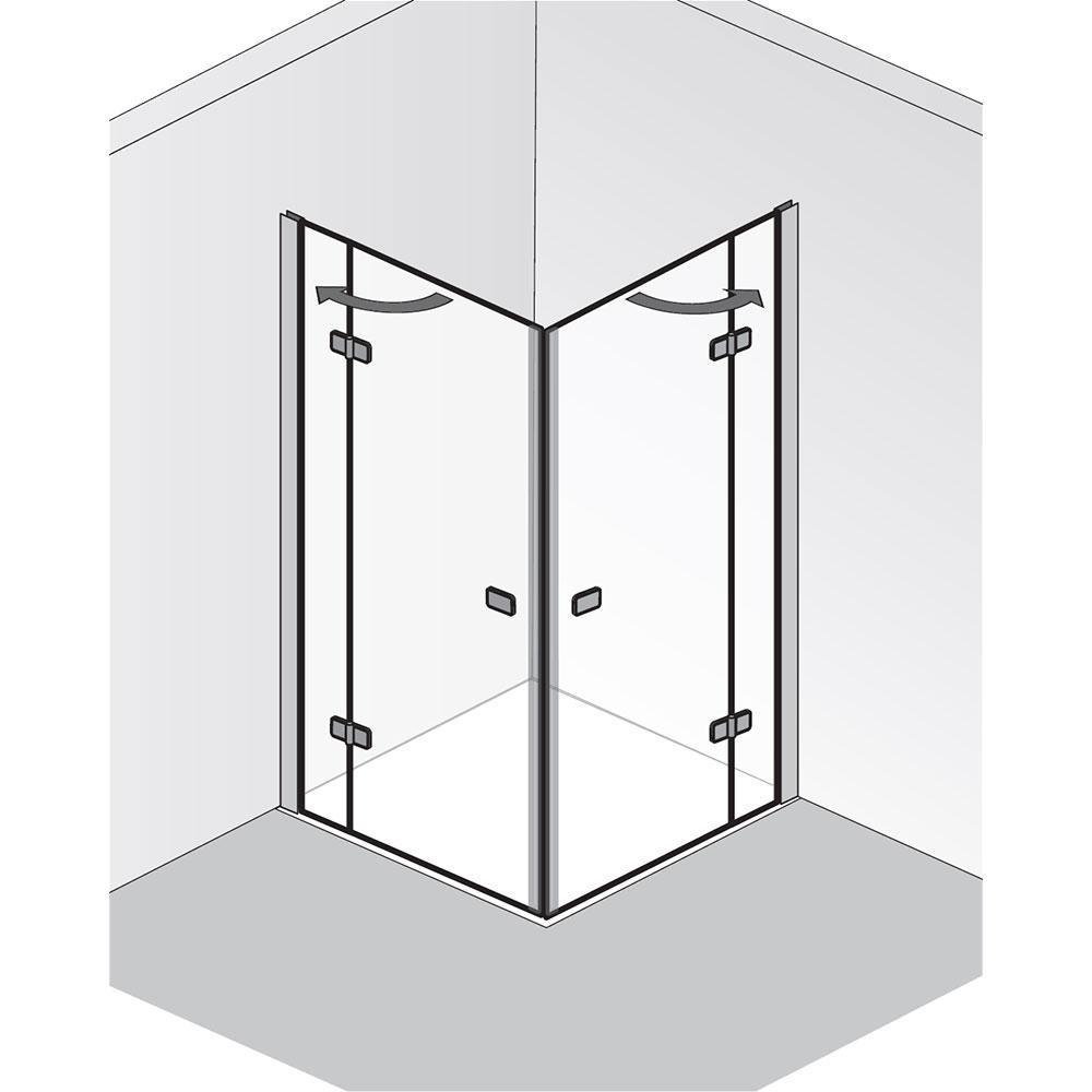 hsk premium softcube eckeinstieg dreht r 4 teilig hier bestellen. Black Bedroom Furniture Sets. Home Design Ideas