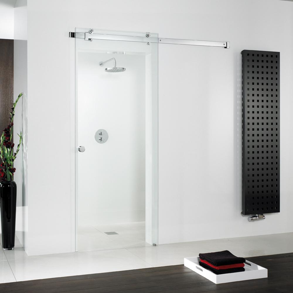 hsk schiebet r aus glas gleitt r vor der wand. Black Bedroom Furniture Sets. Home Design Ideas