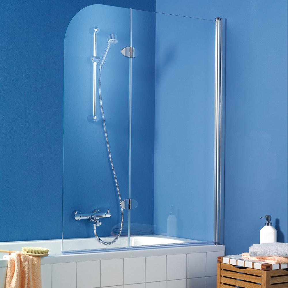 hsk badewannenaufsatz exklusiv 406114 badewannenfaltwand 2 teilig. Black Bedroom Furniture Sets. Home Design Ideas