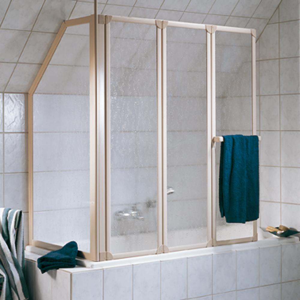 hsk badewannenaufsatz prima 263127 badewannenfaltwand 3 teilig inklusive seitenwand 126 8 cm. Black Bedroom Furniture Sets. Home Design Ideas