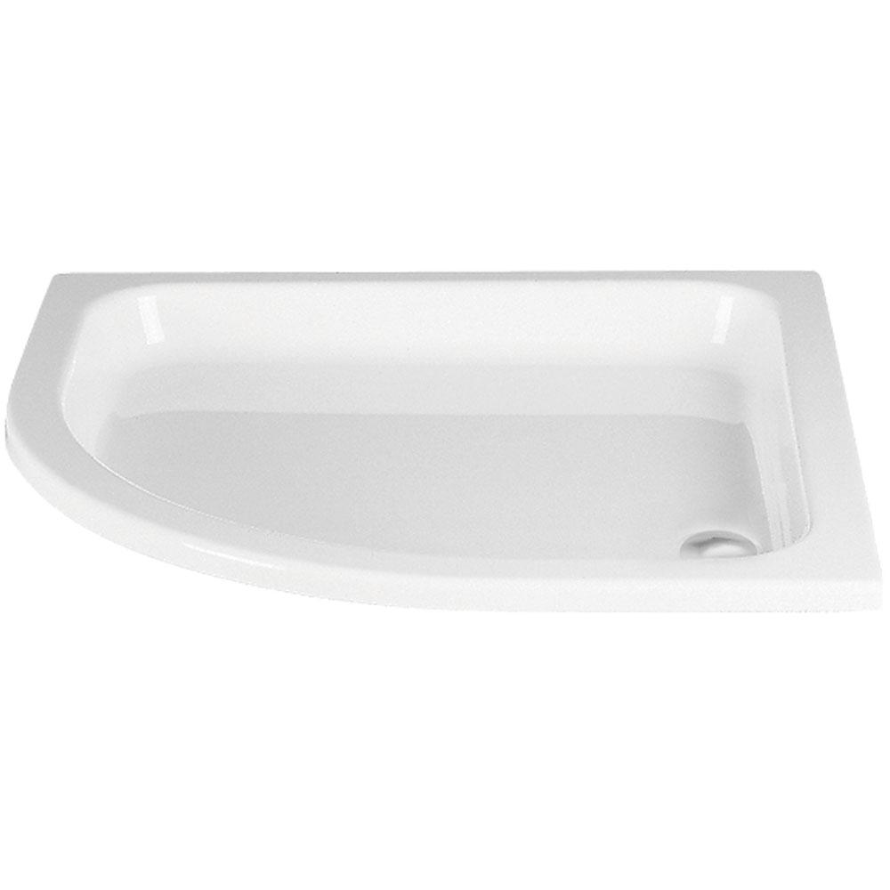 hsk duschwanne viertelkreis r550 duschtrasse acryl flach standardfarben 500080 standardfarben. Black Bedroom Furniture Sets. Home Design Ideas