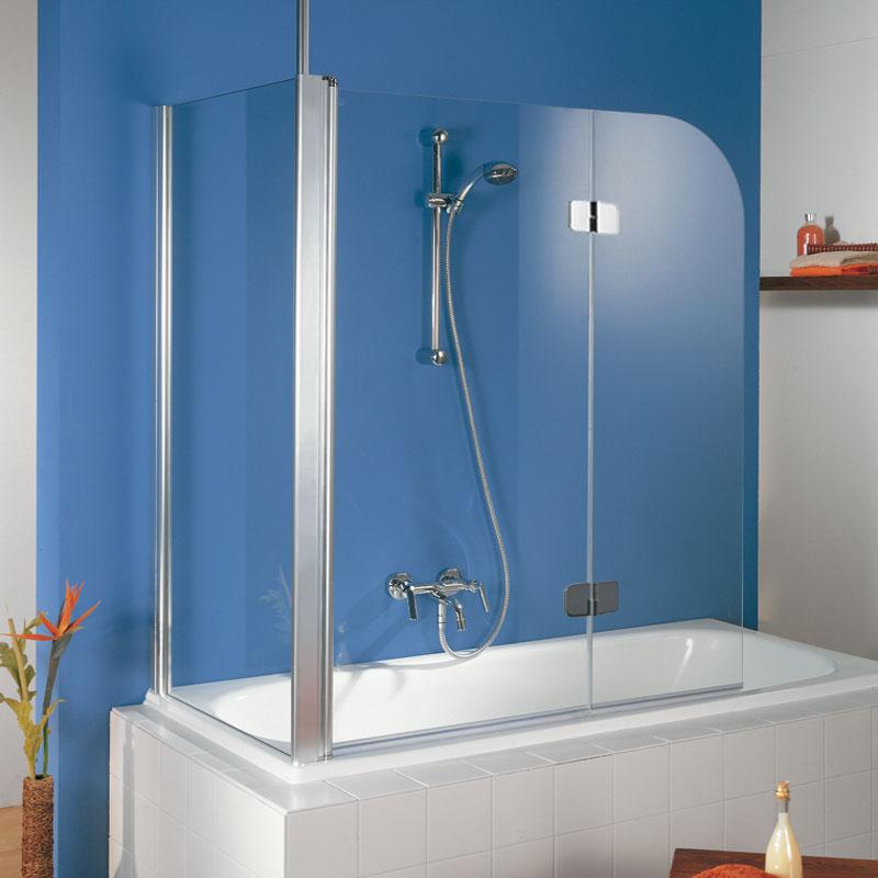 hsk premium softcube badewannenaufsatz 2 teilig mit seitenwand. Black Bedroom Furniture Sets. Home Design Ideas