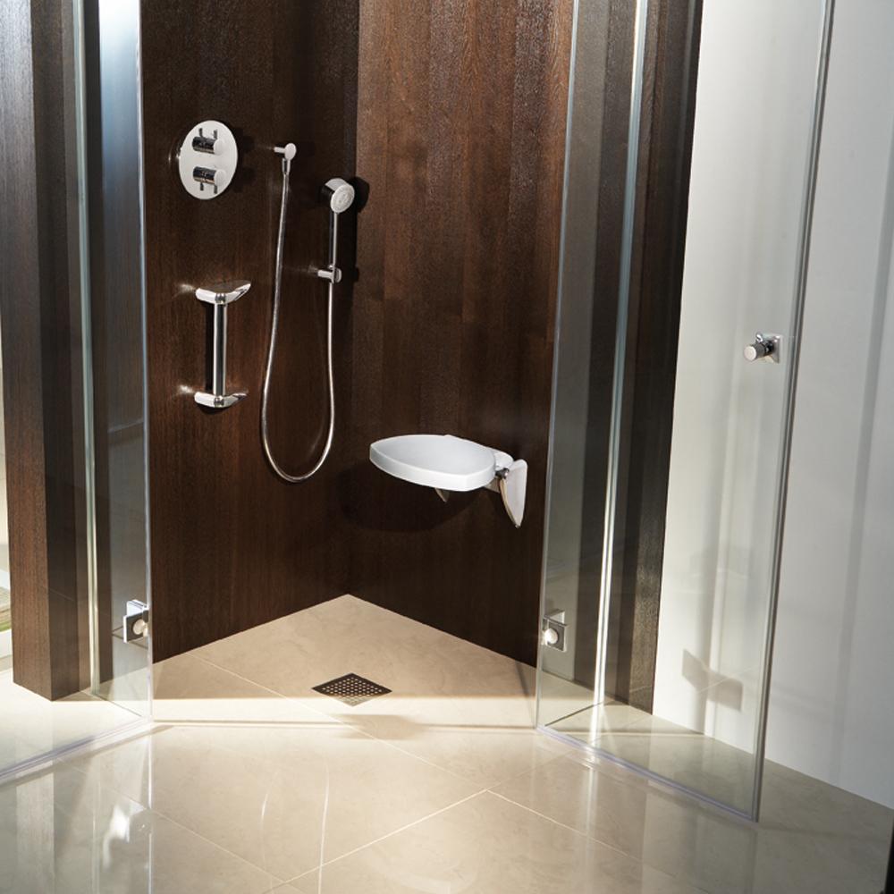 Eine Moderne Begehbare Dusche Fußbodenheizung Realisiert Mit Pictures