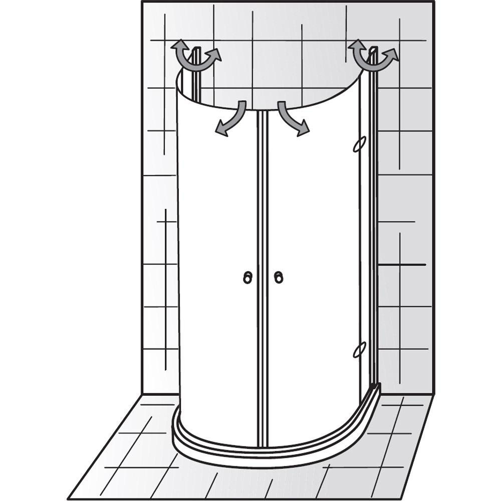Glas Dusche Klappbar : Platzsparende Duschkabine HSK Exklusiv Halbkreis Runddusche mit