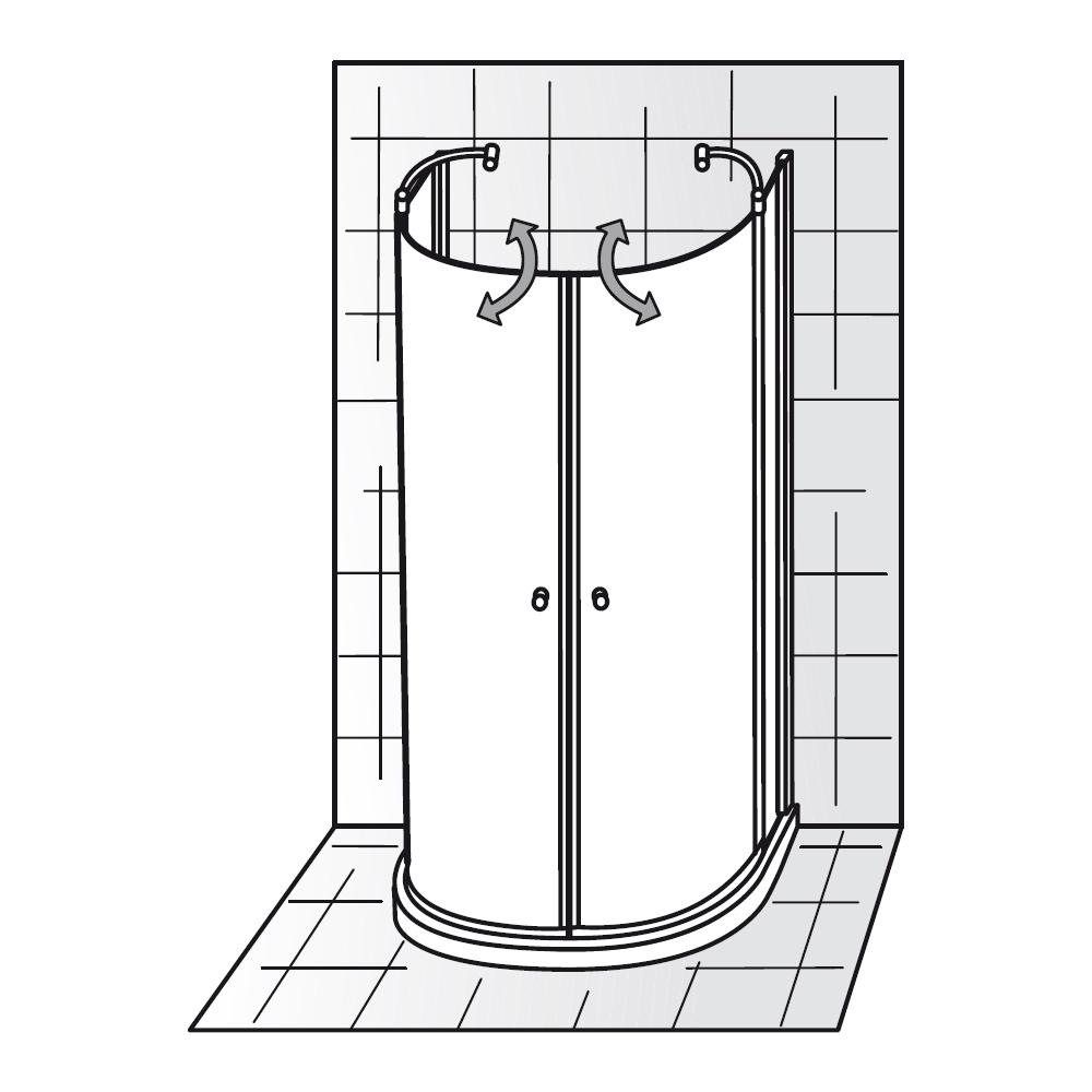 hsk runddusche exklusiv 480096 halbkreis. Black Bedroom Furniture Sets. Home Design Ideas