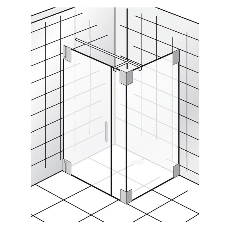dusche pendeltur mit seitenwand kreatif von zu hause. Black Bedroom Furniture Sets. Home Design Ideas
