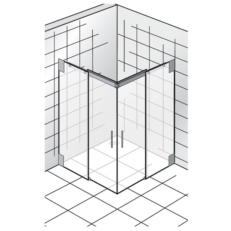 HSK K2.32 Duschkabine Gleittür Eckeinstieg K2 mit Schiebetüren | {Duschabtrennung schiebetür eckeinstieg 94}