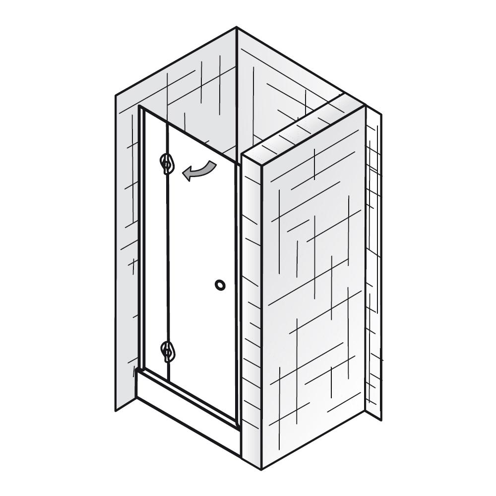 hsk duscht r nischent r premium 601075 dreht r nische. Black Bedroom Furniture Sets. Home Design Ideas
