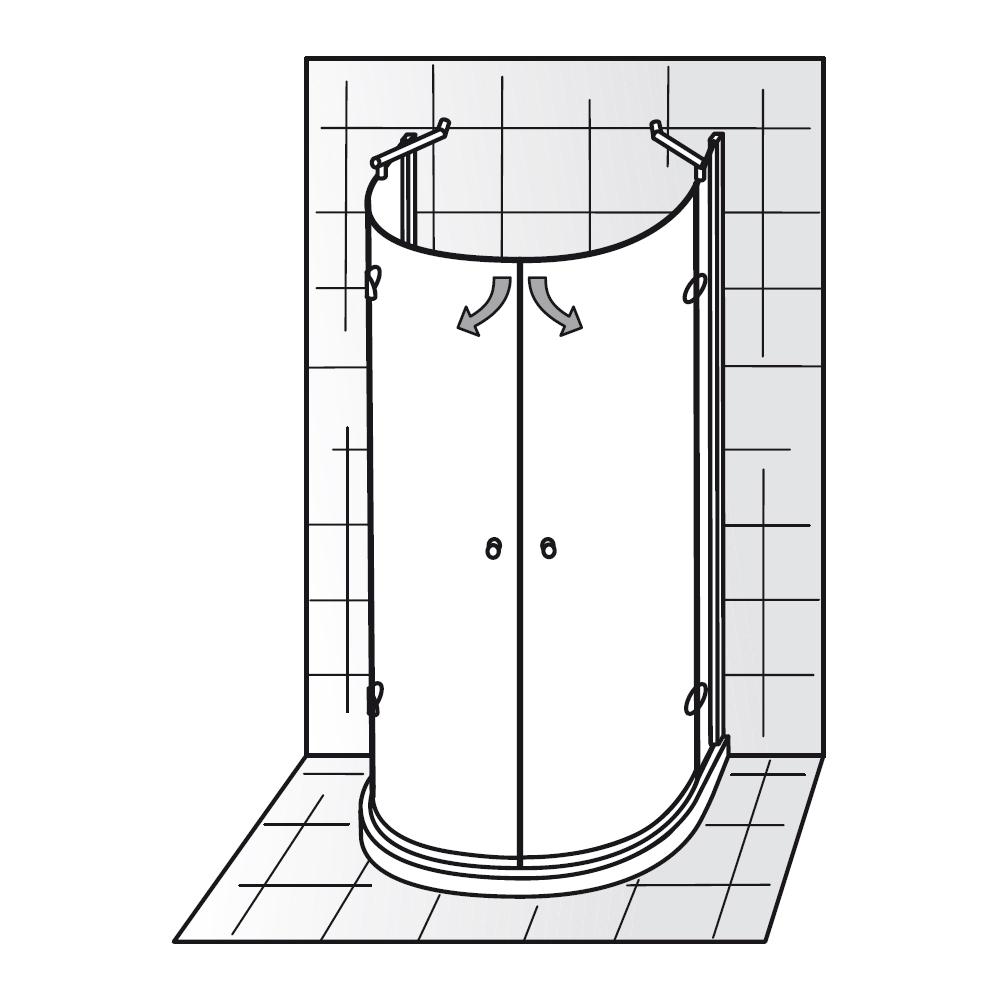 hsk premium classic runddusche halbkreis standardfarben 680096. Black Bedroom Furniture Sets. Home Design Ideas