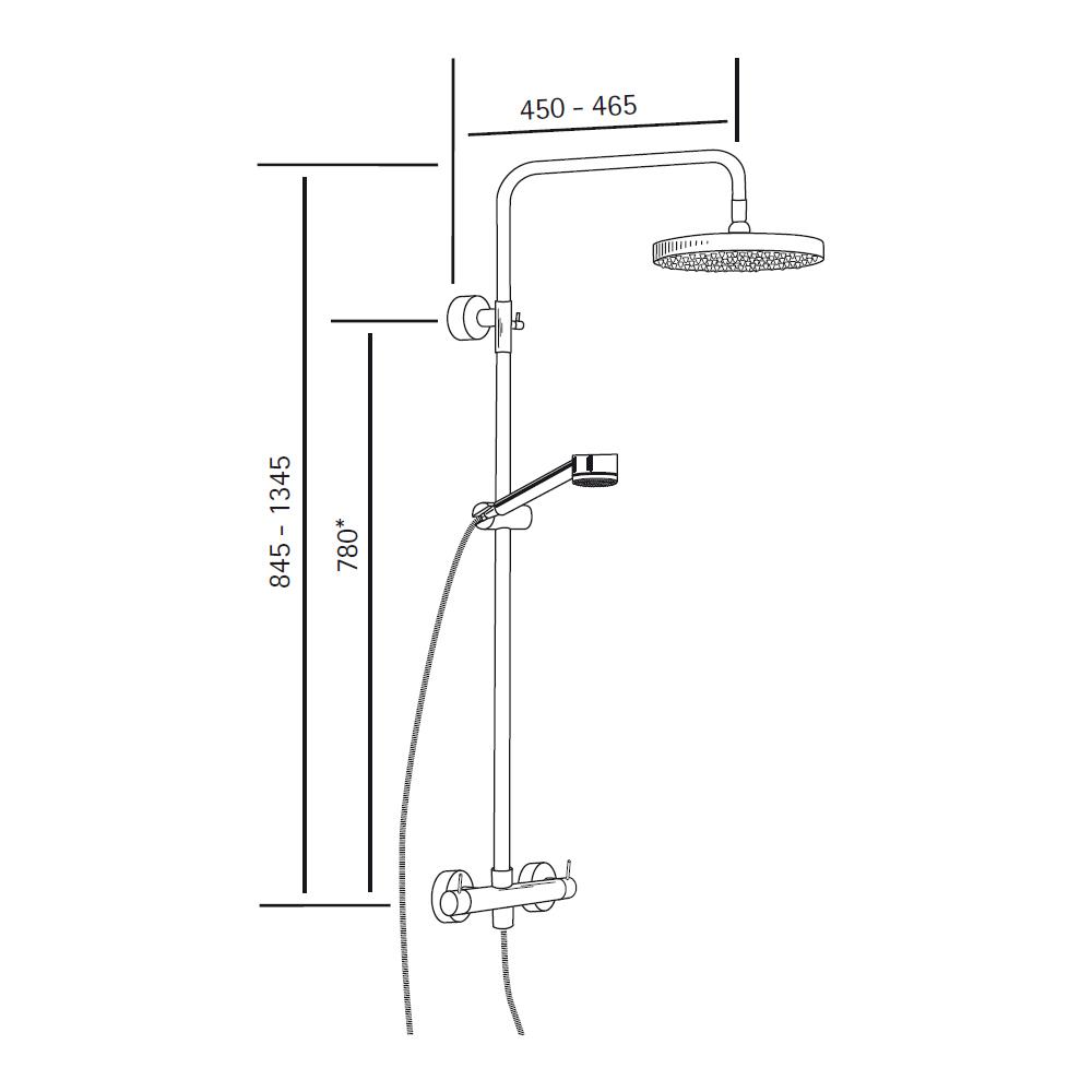 Regendusche Aufputz : Thermostat – HSK Duschbrause Regendusche-Brause – RS-200, 1006600