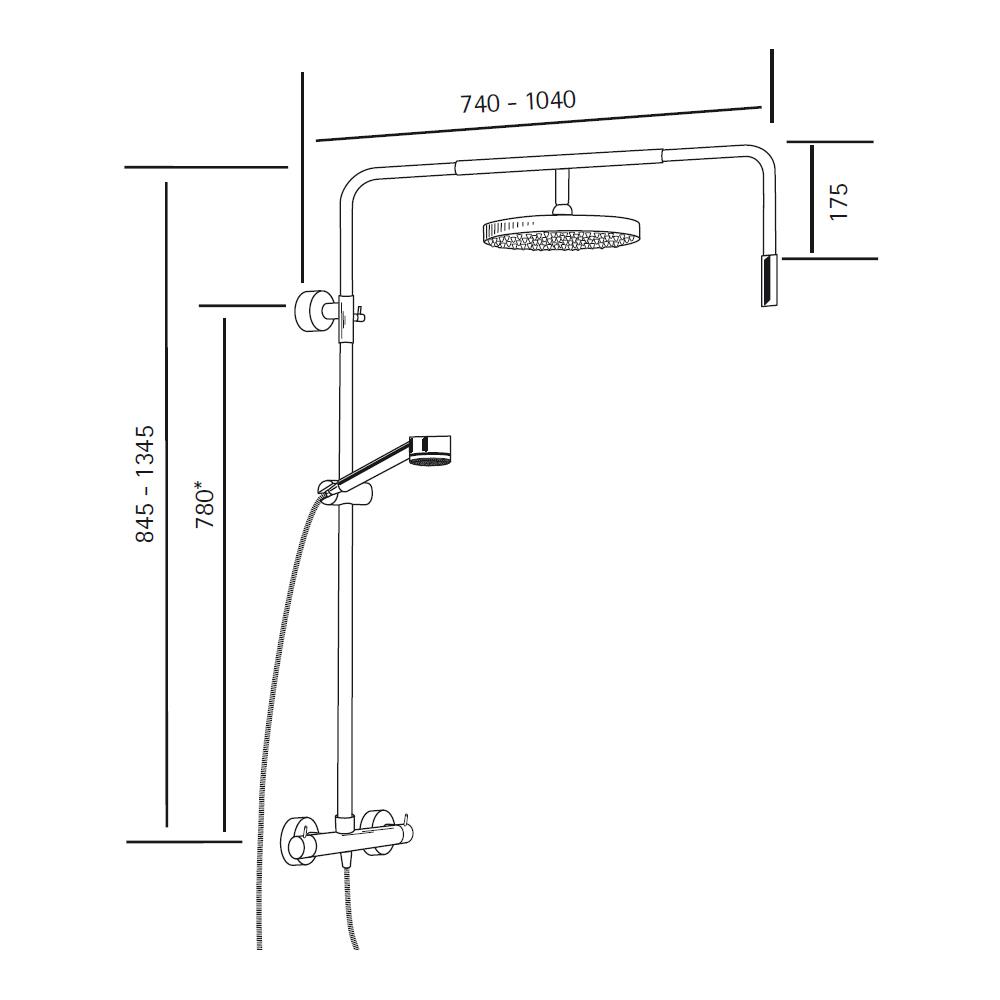 Regendusche Aufputz : RS 200 Walk In Thermostat – HSK Regendusche Duschbrause-1600008