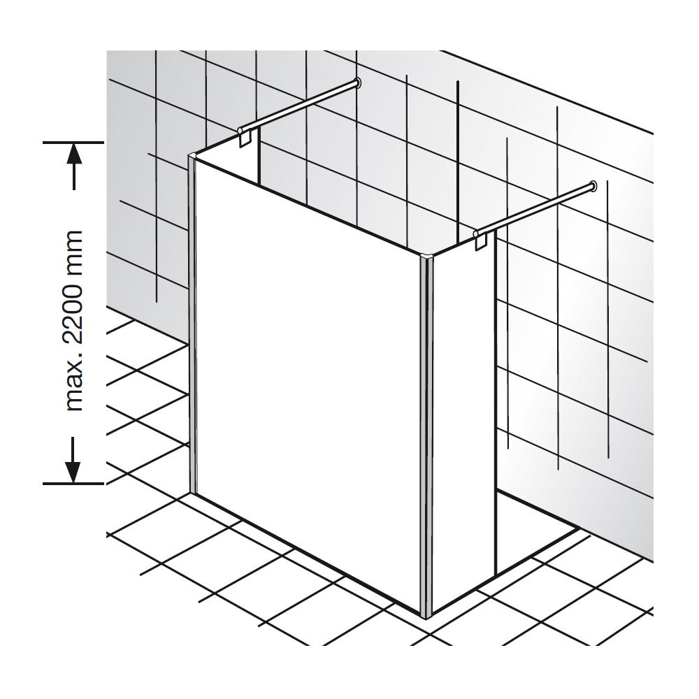 hsk walk in dusche atelier pur glaselement und 2. Black Bedroom Furniture Sets. Home Design Ideas