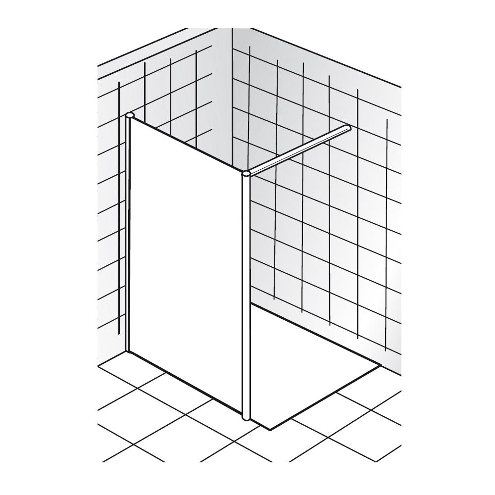 hsk walk in easy 1 1 glaselement 1240900. Black Bedroom Furniture Sets. Home Design Ideas