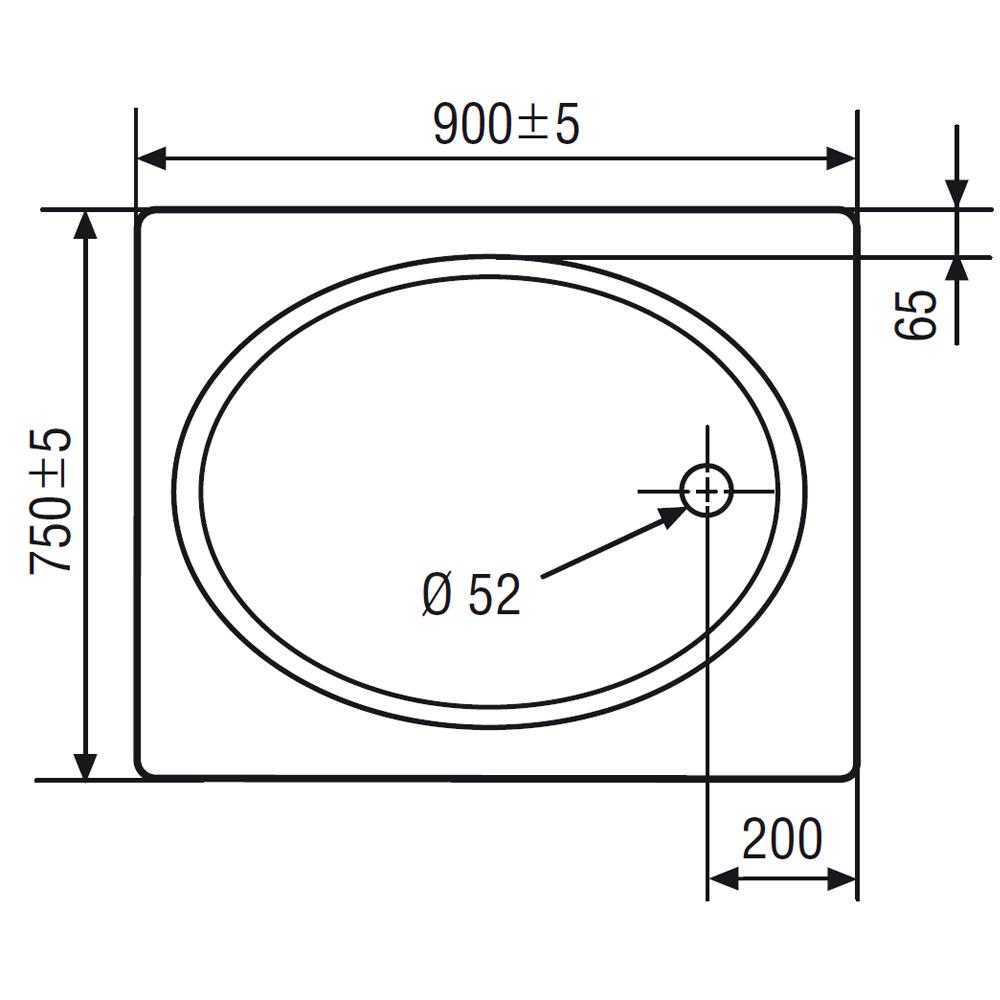 hsk duschwanne rechteckig 520075 duschtasse acryl flach. Black Bedroom Furniture Sets. Home Design Ideas