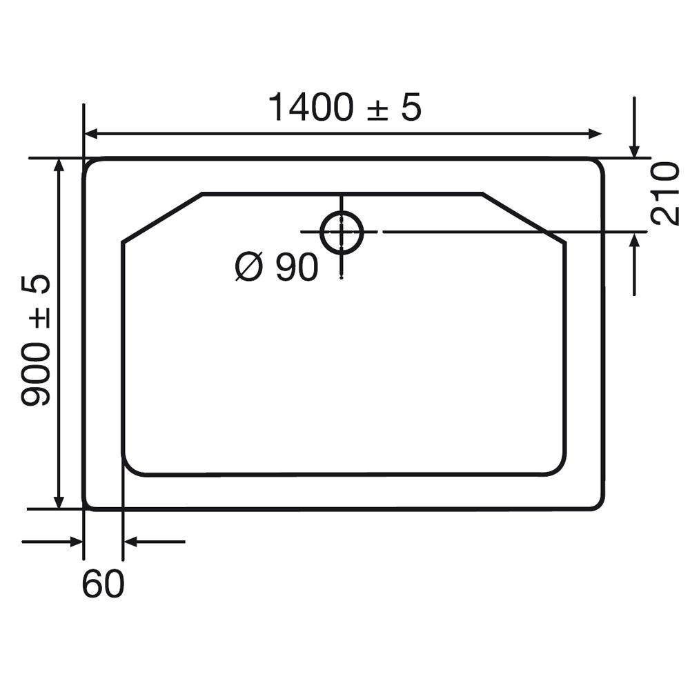 Ordentlich HSK Duschwanne rechteckig – Duschtasse Marmor Polymer, super flach  UB51