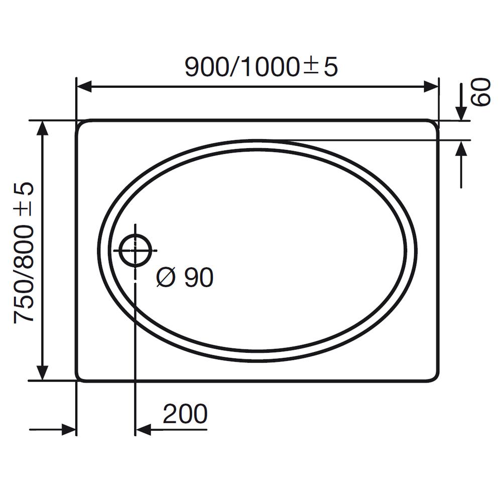 Ordentlich HSK Duschwanne rechteckig innen oval, 520075 | Duschtasse Acryl  UB51