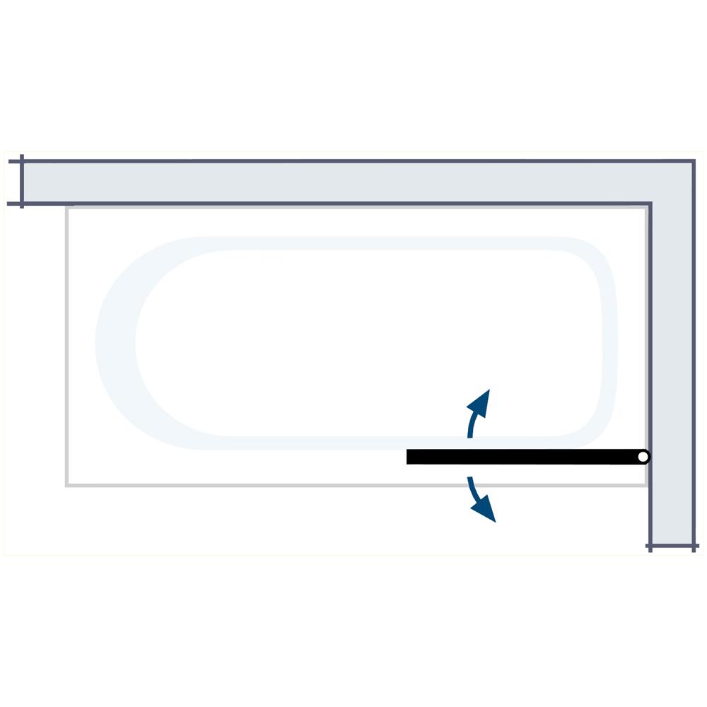 hsk badewannenaufsatz exklusiv 406175 badewannenfaltwand 1 teilig. Black Bedroom Furniture Sets. Home Design Ideas