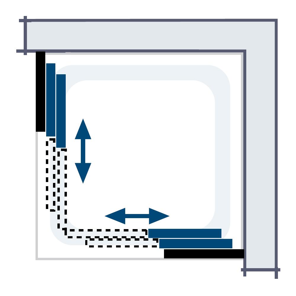 Duschkabine clipart  HSK Kunstglas Duschkabine – Eckeinstieg, 6 teilig - Favorit, 119090-KG