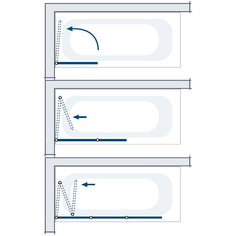hsk badewannenaufsatz favorit 162125 badewannenfaltwand. Black Bedroom Furniture Sets. Home Design Ideas