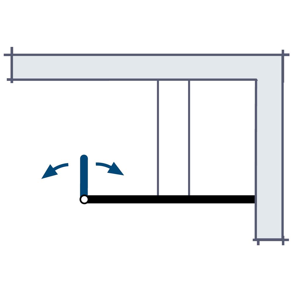 hsk walk in lavida mit duschpaneel glasfront bewegliches seitenteil. Black Bedroom Furniture Sets. Home Design Ideas