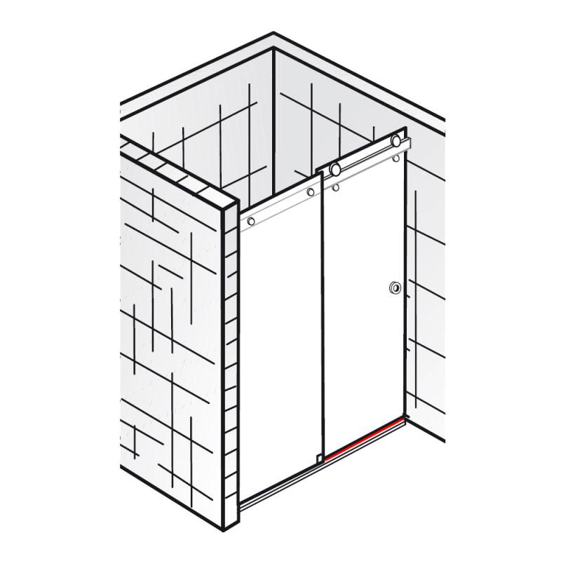wasserleiste inkl endkappen et atelier gleitt r 2. Black Bedroom Furniture Sets. Home Design Ideas