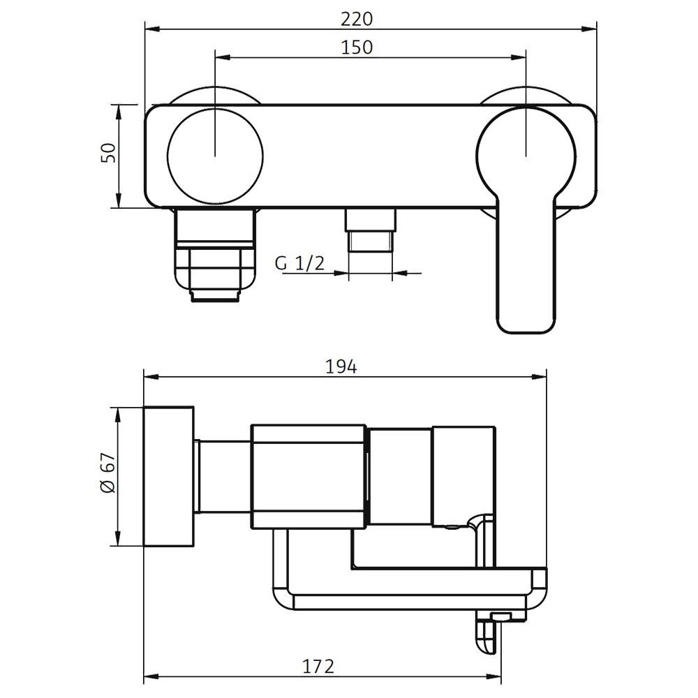 hsk aufputz wannenf ll und brause einhebelmischer softcube wannenf ller softcube shower. Black Bedroom Furniture Sets. Home Design Ideas
