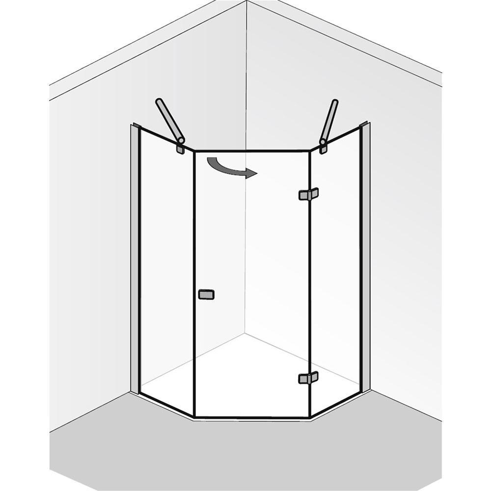 hsk premium softcube f nfeckdusche 3 teilig hier bestellen. Black Bedroom Furniture Sets. Home Design Ideas