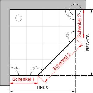 hsk f nfeckdusche atelier 1760090 3 teilig. Black Bedroom Furniture Sets. Home Design Ideas