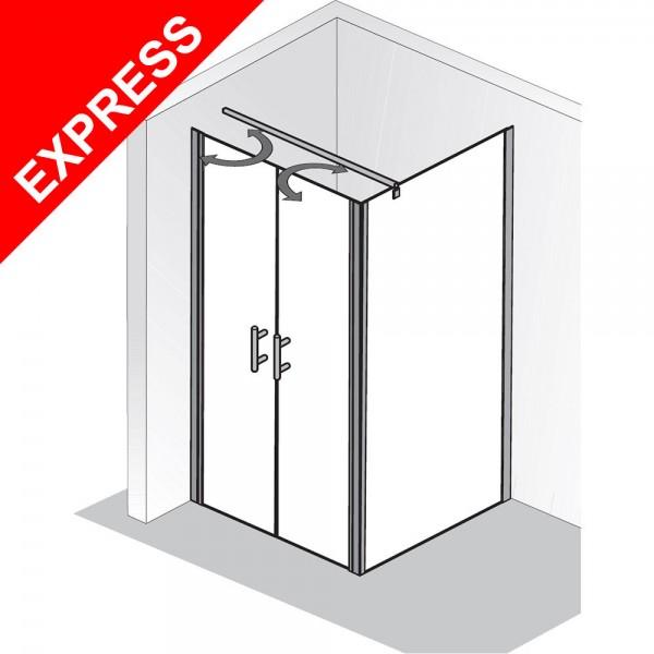 hsk duschkabine favorit nova pentelt r f r nische oder mit seitenwand. Black Bedroom Furniture Sets. Home Design Ideas