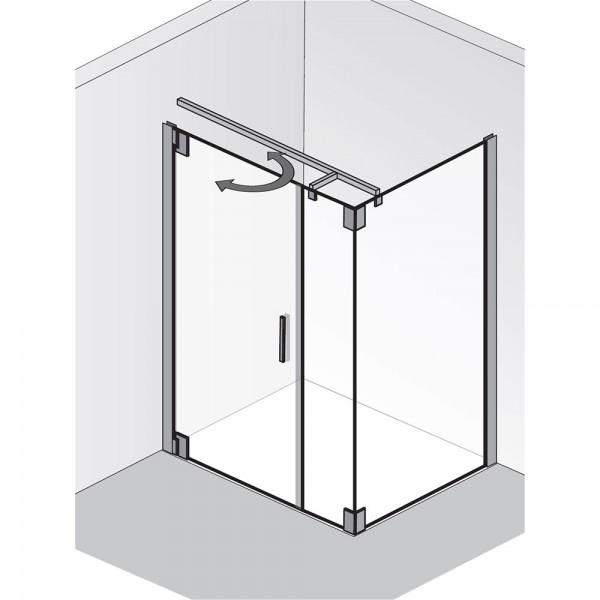 HSK Duschkabine K2P Drehtür mit Nebenteil und Seitenwand