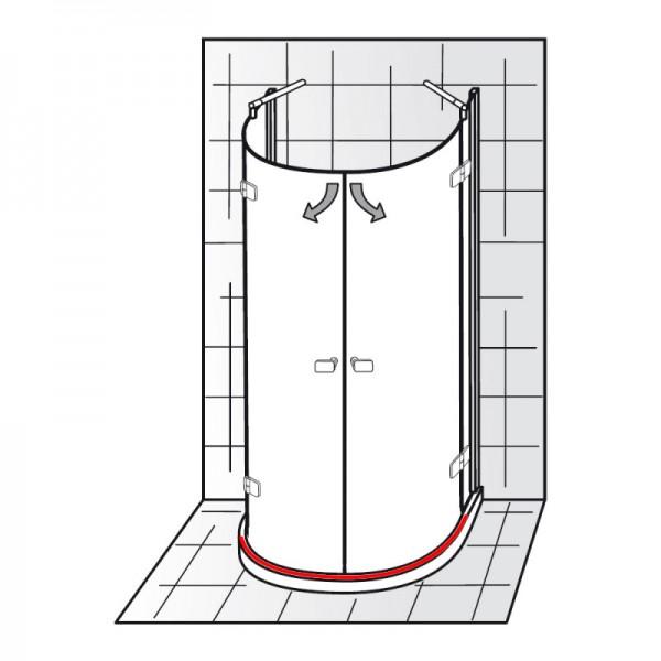 Wasserleiste inkl. Endkappen