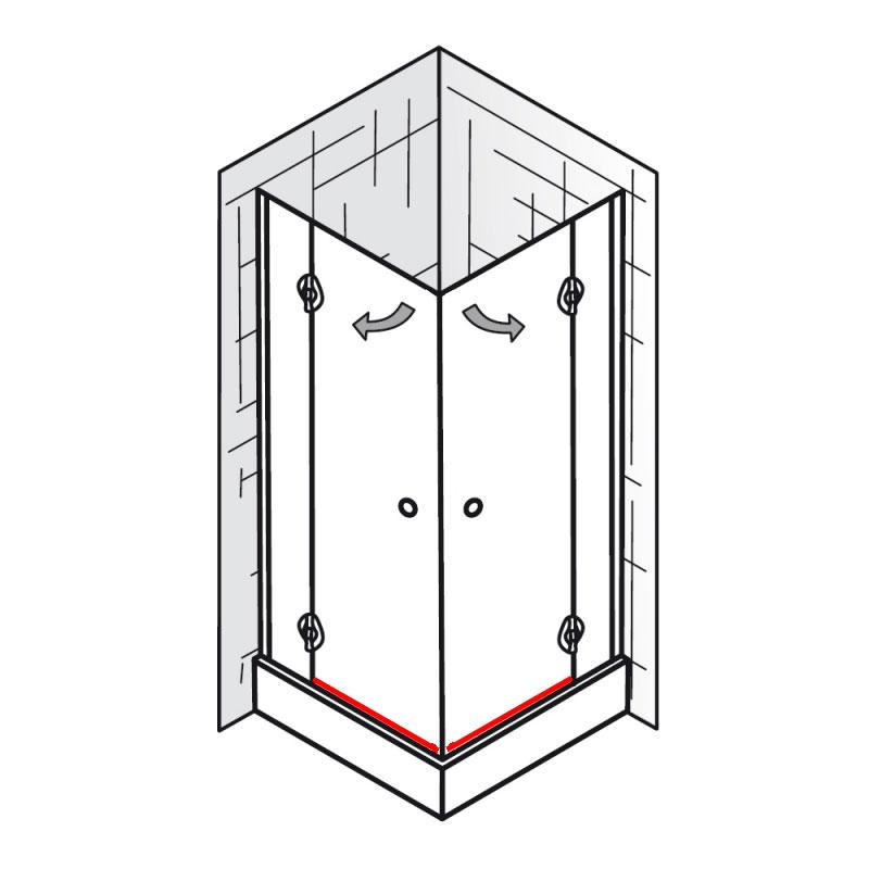 et premium eckeinstieg 4 teilig ersatzteile premium classic ersatzteile hsk duschkabinen. Black Bedroom Furniture Sets. Home Design Ideas