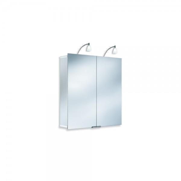 HSK ASP 300, 75 x 75 cm, Spiegelschrank Aluminium