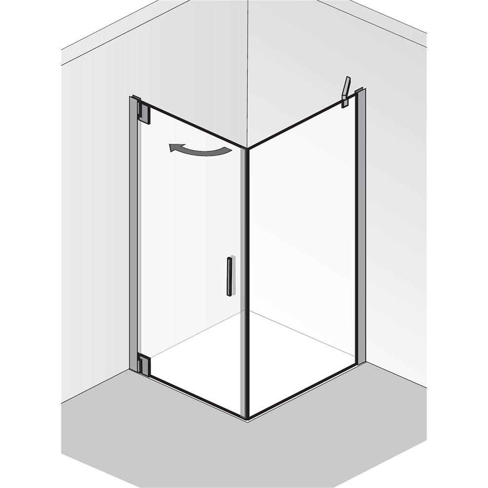 hsk dusche k2p dreht r mit seitenwand 8 mm glasst rke. Black Bedroom Furniture Sets. Home Design Ideas
