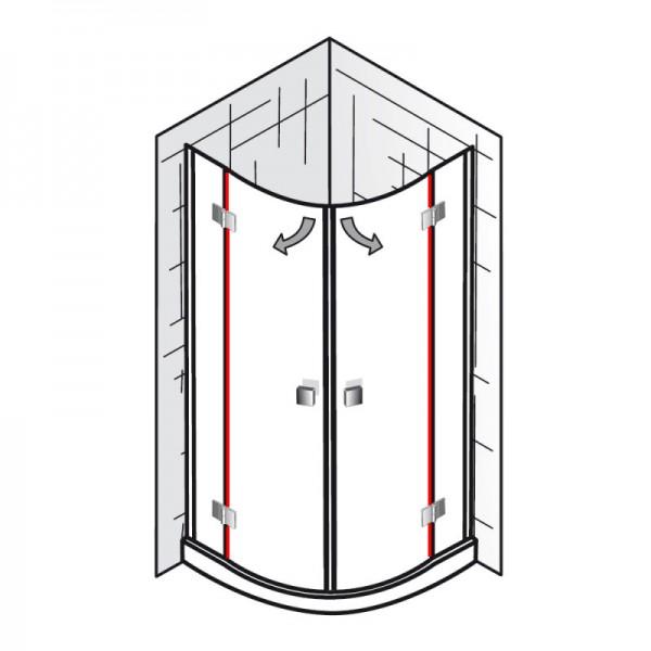 dichtung vertikal et atelier runddusche 4 teilig. Black Bedroom Furniture Sets. Home Design Ideas