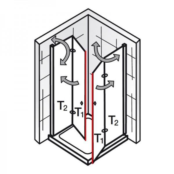 Magnetprofil 45°