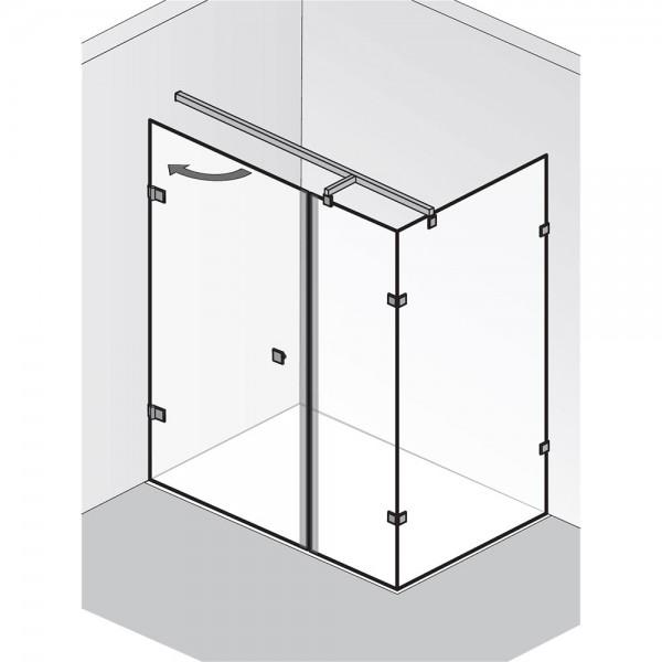 HSK Atelier Pur AP.21 Drehtür und Nebenteil mit Seitenwand