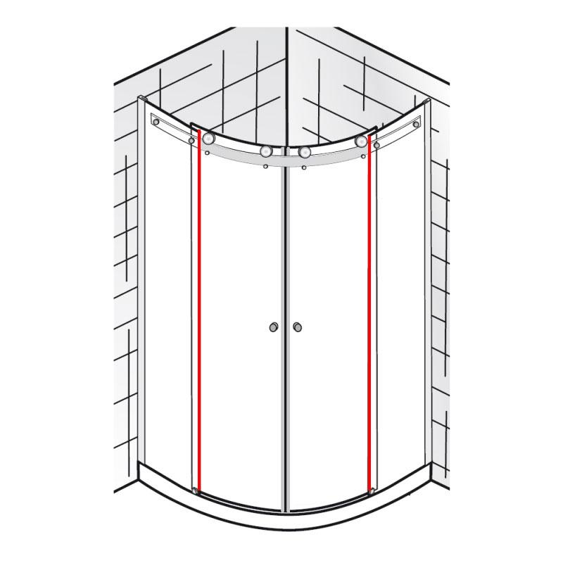 wasserabweisprofil vertikal et atelier gleitt r runddusche 4 teilig ersatzteile atelier. Black Bedroom Furniture Sets. Home Design Ideas