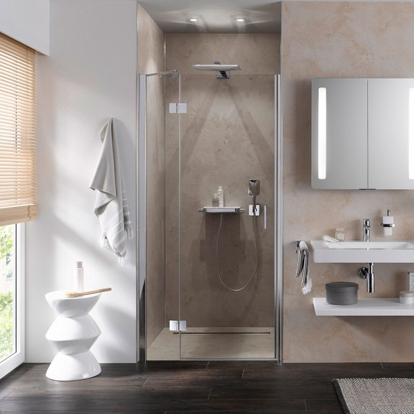 HSK Aperto Drehtüre - pendelbar Duschtüre für Nischen