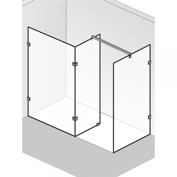 HSK Walk In Atelier Pur Glaselement mit Seitenteil Seitenwand