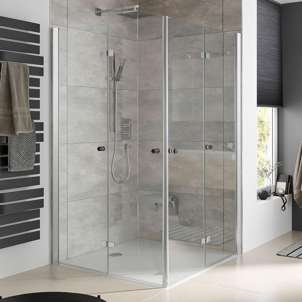 hsk atelier plan eckeinstieg mit drehfaltt r hsk eckeinstieg hsk duschkabinen duschkabine. Black Bedroom Furniture Sets. Home Design Ideas